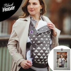 Izmi Limited Edition Carrier Gift Box / Cotton /Grey with Grey Triangle