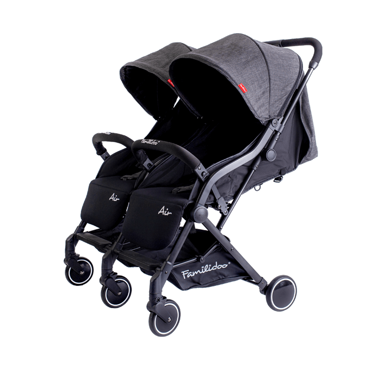 Familidoo Air Twin Pushchair / Dark Grey Denim
