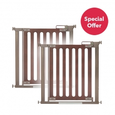 Buy 2 Fred Pressure Fit Wooden Stairgates for the price of one