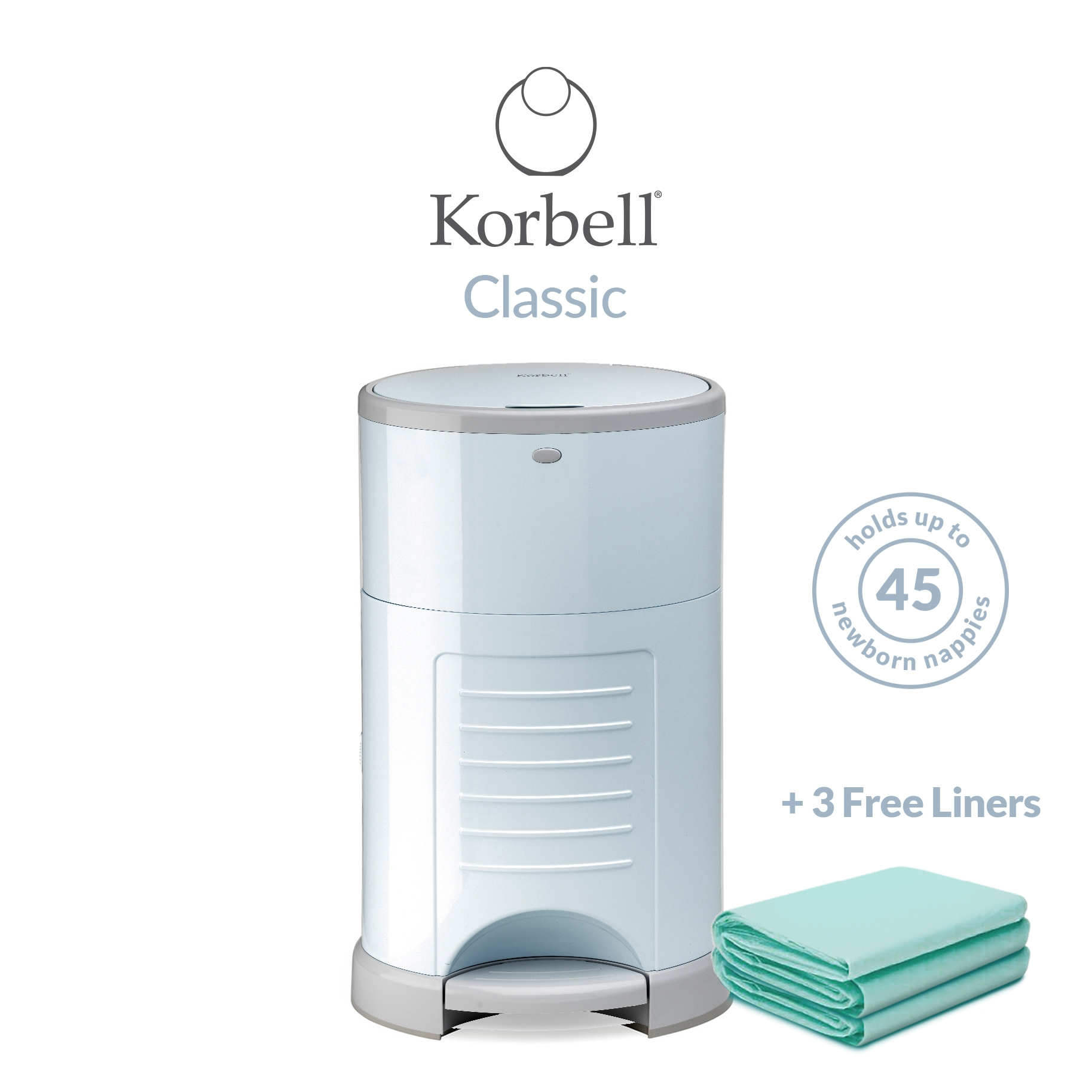 Korbell Classic 16L Bin Bundle (with Free Liner) Blue