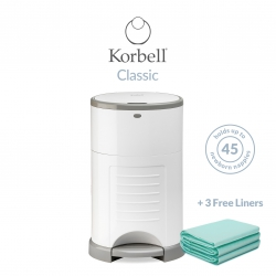 Korbell Classic 16L Bin Bundle (with Free Liner) White