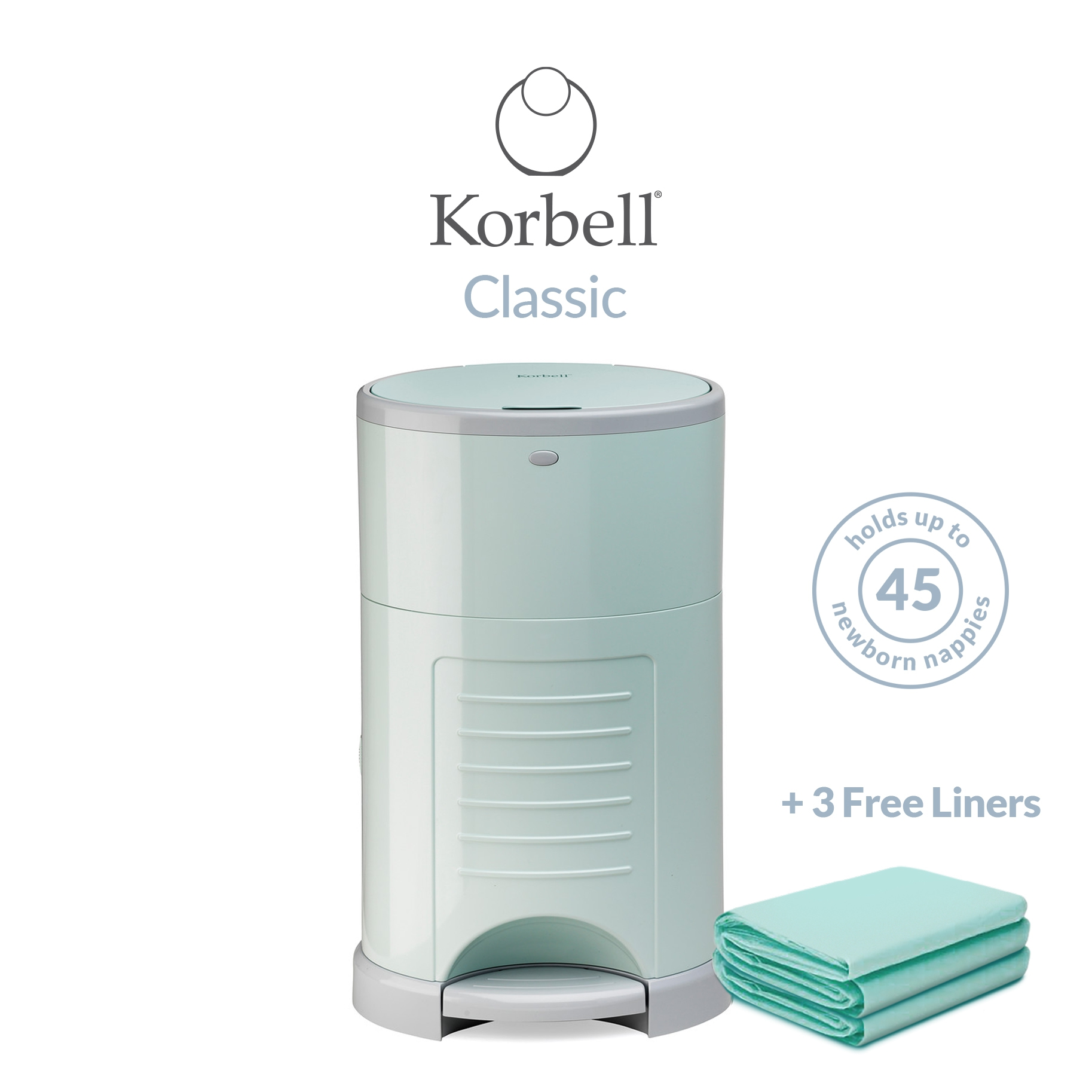 Korbell Classic 16L Bin Bundle (with Free Liner) Mint