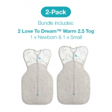 Love To Dream 2 Pack Warm 2.5 Tog Starter Pack (1 X Newborn And 1 X Small WHITE)