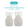 Love To Dream 2 Pack Warm 2.5 Tog Starter Pack (1 X Small And 1 X Medium)