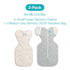 Love To Dream 2 Pack Bamboo Starter Pack - Includes  1 x Stage One & 1 x Stage Two 1.0 tog Swaddles