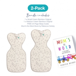 Love To Dream 2 Pack Bamboo Starter Pack (1 X Small And 1 X Medium) Plus Mums The Word