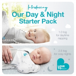 Love To Dream Day And Night Starter Pack NEWBORN - 1 x Original 1.0tog Swaddle + 1 X 2.5tog Warm Swaddle