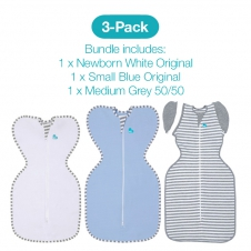 Love To Dream 2 Pack Starter Pack - Includes  2 x Stage One & 1 x Stage Two 1.0 tog Swaddles