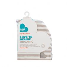 Love To Beanie Organic Cream Stripe