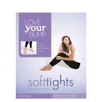 Love Your Bump Black Maternity SoftTights / Size 1