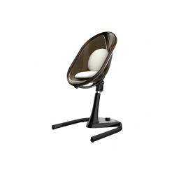 Mima Moon Highchair Black Frame With Silver Seat Pad