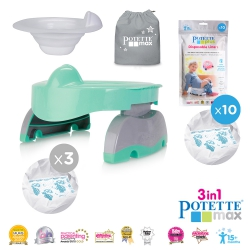 Potette Max Bundle Pack - Potette Max with Hard Liner and 3 X Liners in Teal
