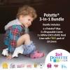 Potette Max & 3 Liners & Hard Liner / White BUNDLE PACK