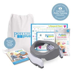 Potette Potty Training Starter Kit / Grey & White