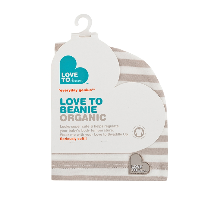 Love To Beanie Organic Cream Stripe